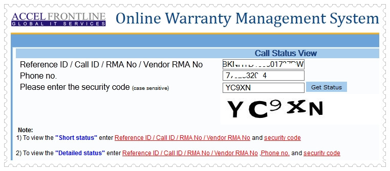 Belkin Warranty Check- Call Status Check
