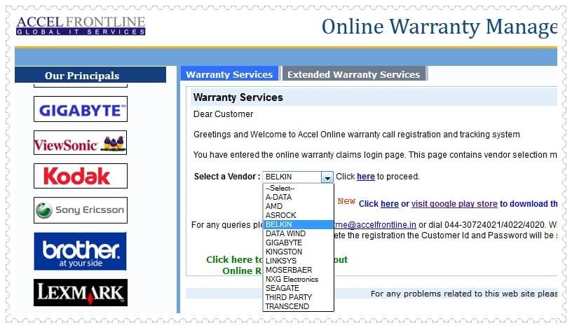 Belkin Warranty Check