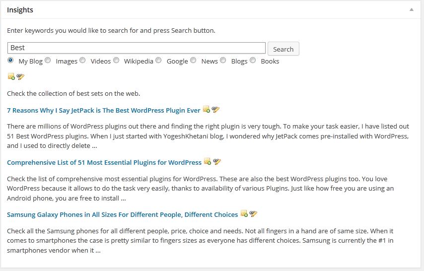 Insight Plugin