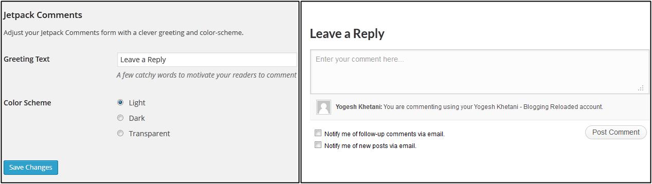 JetPack Comment System