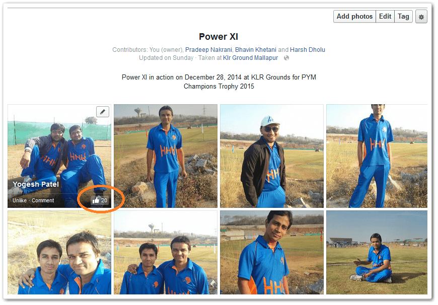 Facebook Post Likes