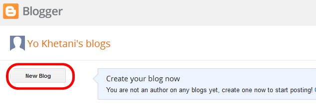 Creating blogspot Blog