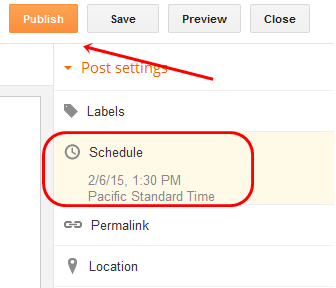post scheduled