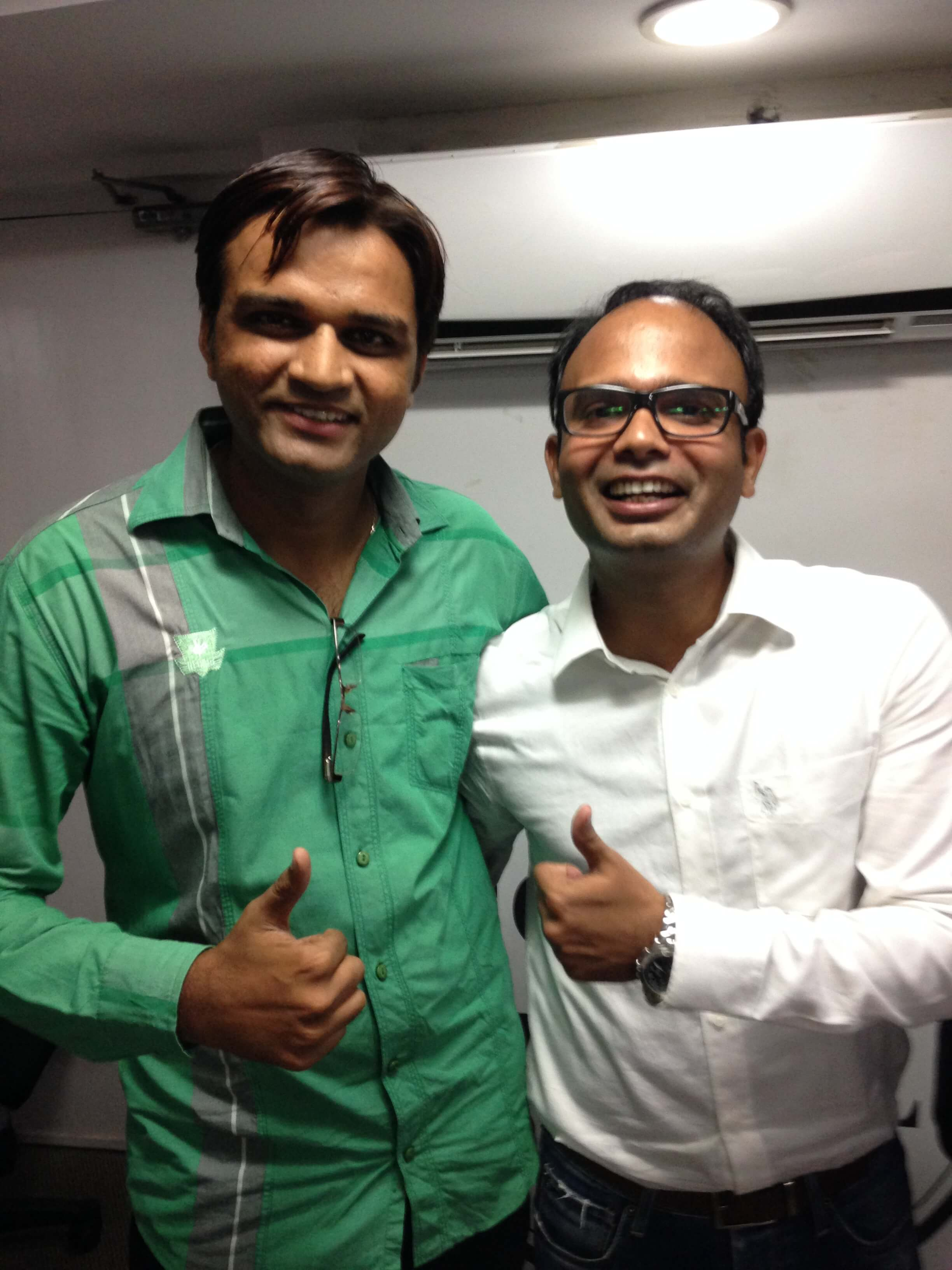 Yogesh Patel with Ajay Mishra