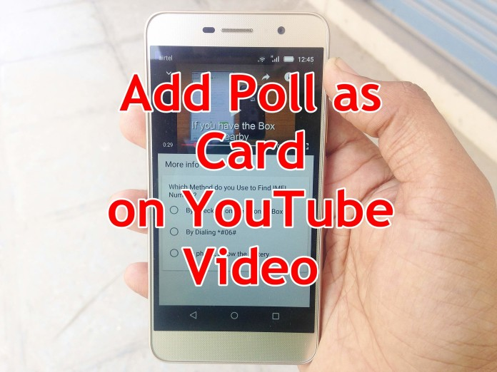 Create YouTube Polls