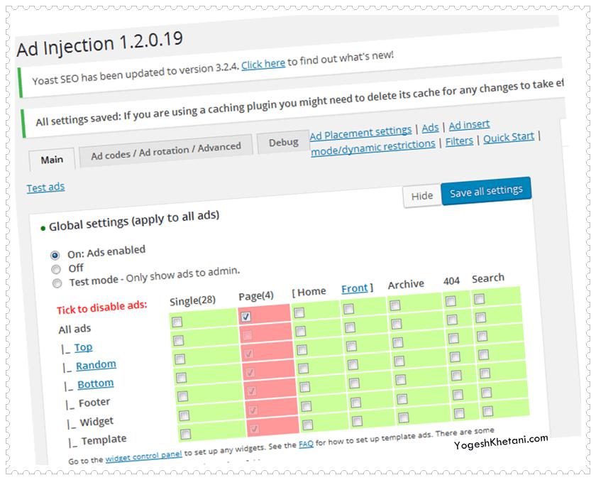 Ad Injection Plugin -essential WP plugin