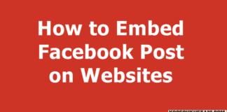 Embed Facebook Post