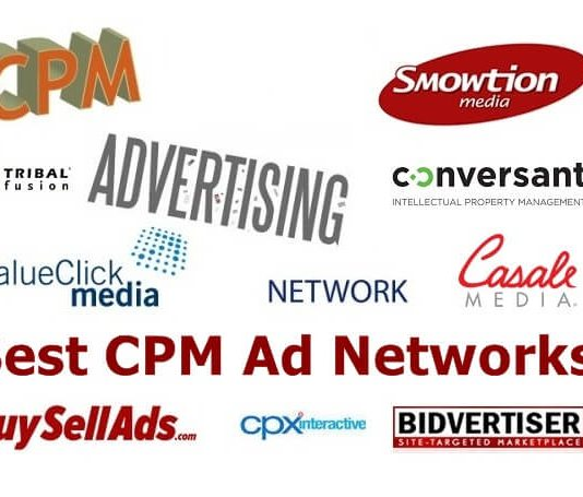 Best CPM Ad networks 2018