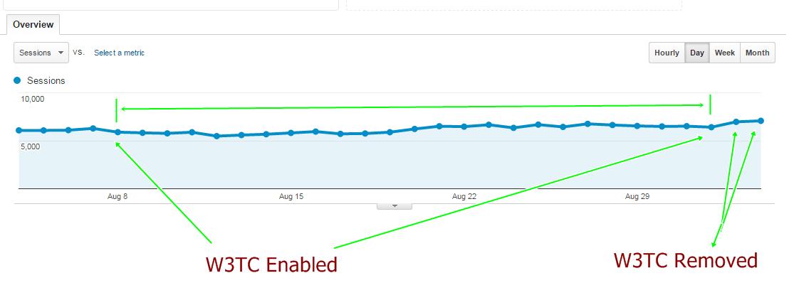 W3TC Performance output