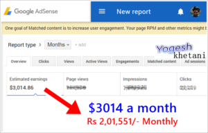 How to Make $3014 per Month from Google AdSense | Newbie Guide