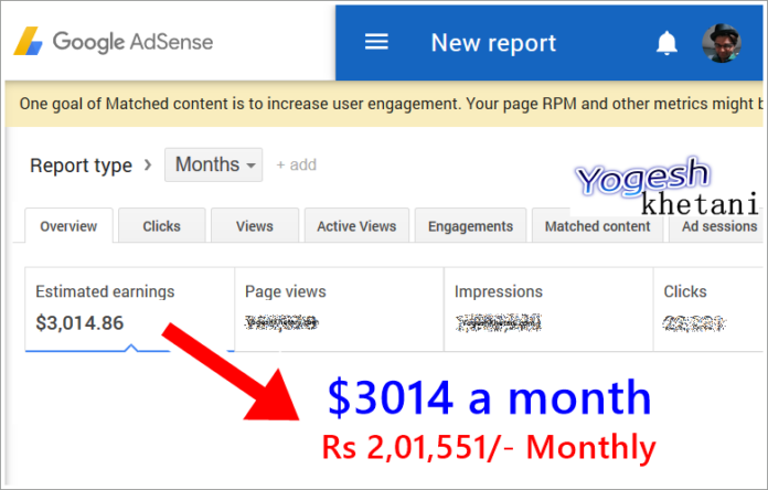 Google last Month earning