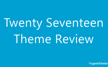 WordPress Twenty Seventeen Theme