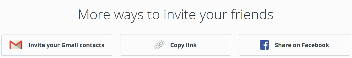Dropbox affiliate program invitation