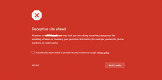 Deceptive Site Ahead Google Chrome