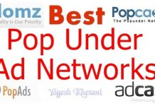 Best Pop under ad networks 2018