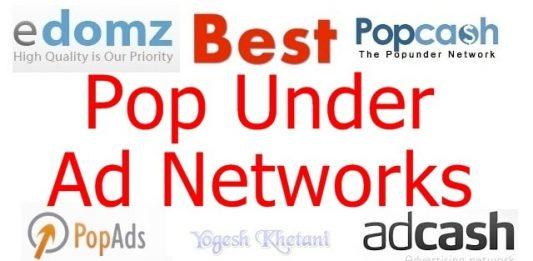 Best Pop under ad networks 2018