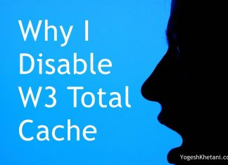 Disable W3 Total Cache Plugin