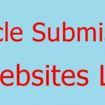 Article Submission Websites list