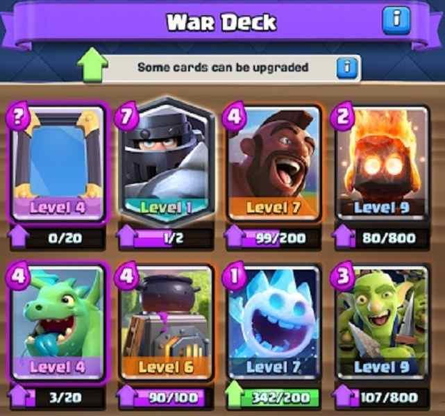 Clan Wars deck