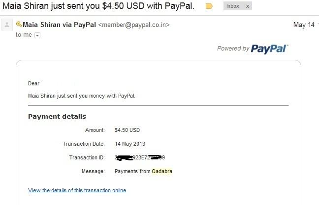 Qadabra Payment proof