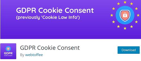 GDPR Cookie consent plugin