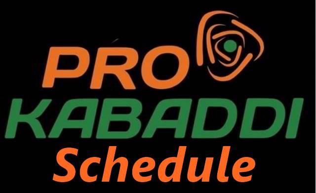 Pro Kabaddi schedule; PKL 2019 time table, PKL fixture, PKL time table, venues