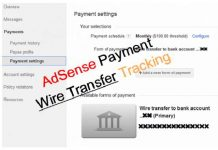 Track Wire Transfer AdSense Payment