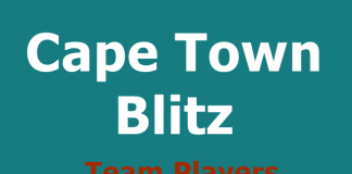 Cape Town Blitz team players