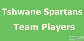 Tshwane Spartans Team Players