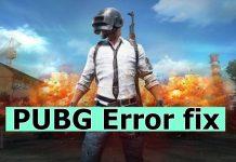 fix PUBG Error fix